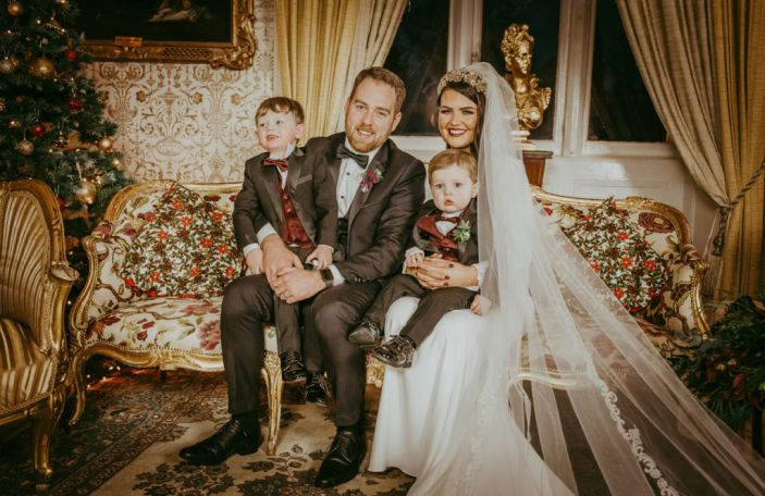 Gillian and Garvin's beautiful winter wedding at Cabra Castle