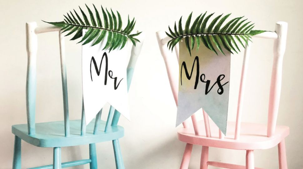 Wedding DIY: How to Create Your Own Wedding Chairs