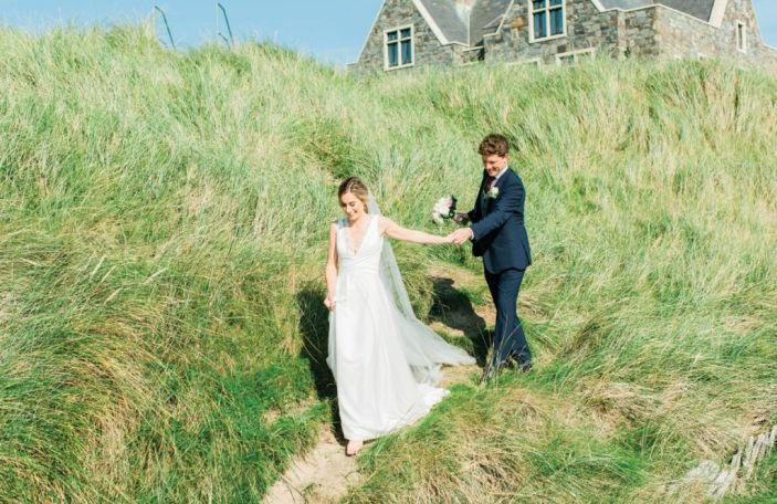Aoife and Brian's beautiful beachside wedding at Doonbeg
