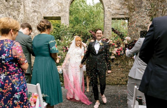 WATCH: Aoife and Will's colourful Loughcrew Estate wedding