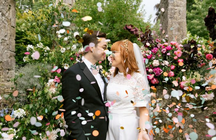 Aoife and Will's Fun-Filled, Colourful Loughcrew Wedding
