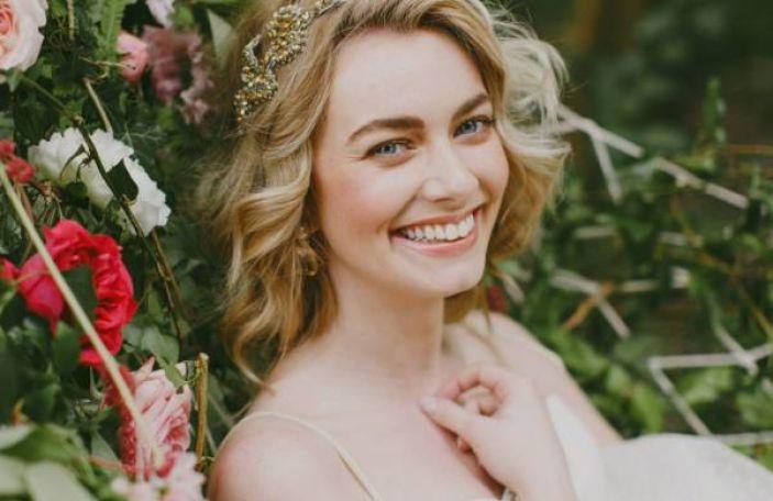 A Midsummer Night's Dream inspired bridal fashion shoot