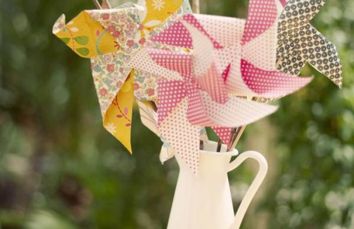 A Sunny Wedding in Westmeath with Pinwheels and Flower Details