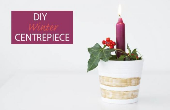 DIY Winter Wedding Centrepiece