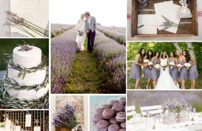Lavender wedding inspiration mood board