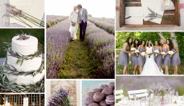 Lavender wedding inspiration mood board