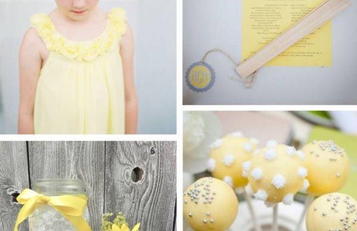 Buttercup yellow bridal inspiration