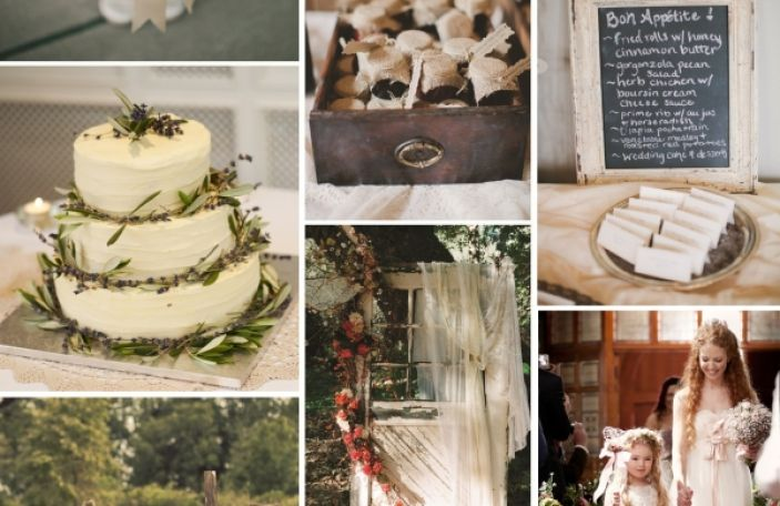Rustic Wedding Theme for Neo-Country Wedding Inspiration