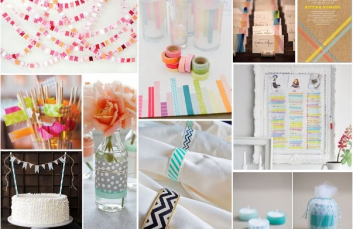 Top Ten DIY Washi Tape Wedding Ideas