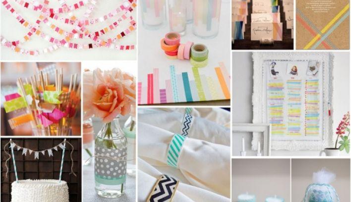 Top Ten Diy Washi Tape Wedding Ideas Confetti Ie