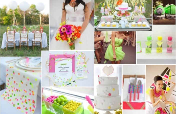 Inspirational Ideas for a Neon Themed Wedding