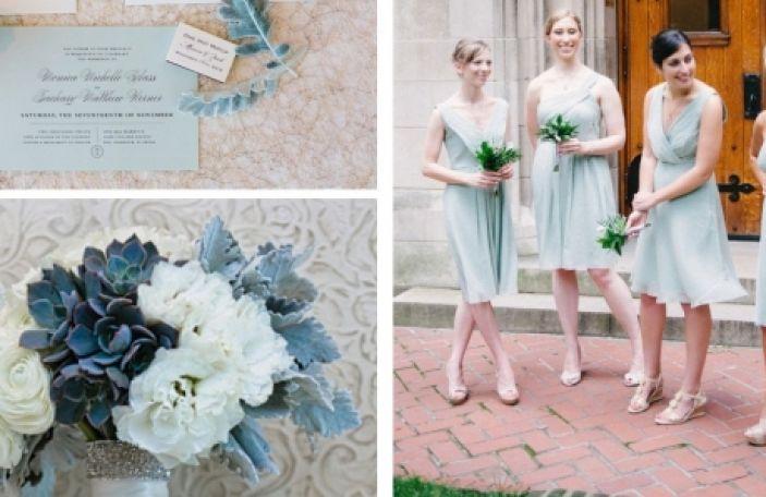 Pastel Blue Wedding Inspiration Moodboard