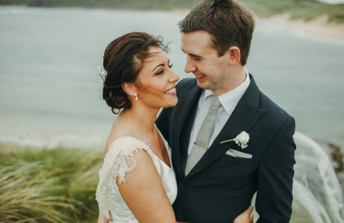 Hannah and Neil's coastal Donegal wedding, captured by Paula O'Hara