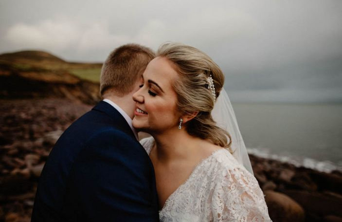 Lorraine and Michael's beachside wedding at Ballintaggart House