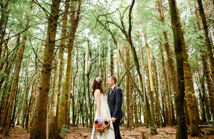 Sarah and Gav's festival-style wedding in the forest at Killyon Manor, Co Meath