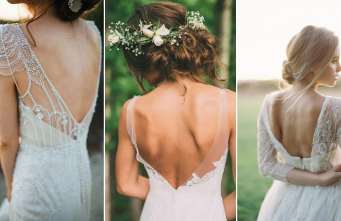 BRIDE GOT BACK: Stunning wedding dress details