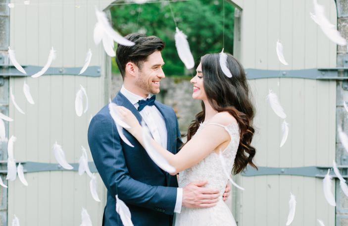 Beautiful wedding dresses and decadent décor at Ballymagarvey