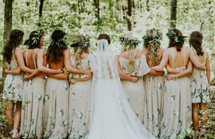 Green Queens: Forest green is this season's must have for bridesmaids