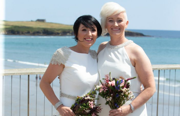 Maggie and Cathy's beautiful seaside wedding at Inchydoney Island Hotel and Spa