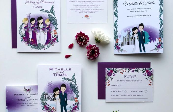 Winter wedding stationery inspiration: Perfect Moment's illustrated suite