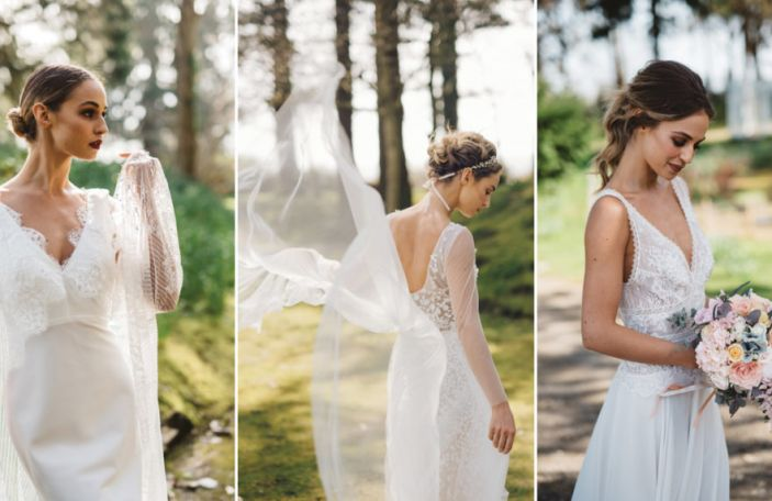 Beautiful Wedding Dresses and Details at Tinakilly House