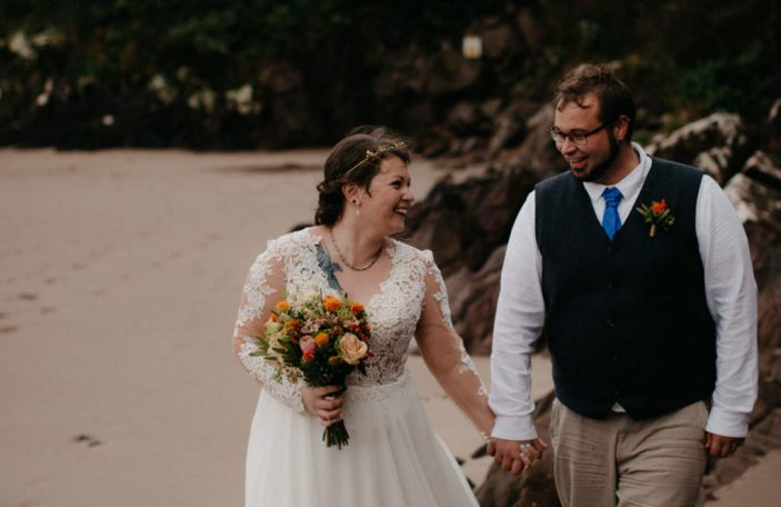 Jennifer and Travis' incredible intimate, rustic Ballintaggart wedding