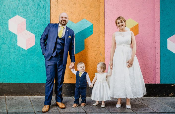 Emma and Chris' colourful wedding at The Chelsea