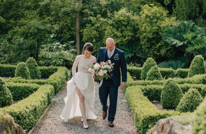 A Garden Wedding For Cliodhna and Fergus at Marlfield House