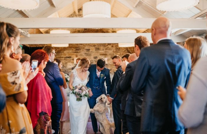 Kirsty and Alec's beautiful autumn Ballymagarvey Village wedding