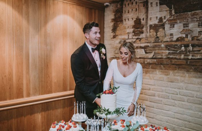 Mallory and Andrew's elegant wedding at the Cliff at Lyons