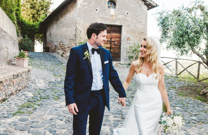 Weddings abroad: Denise and Ciaran's breathtaking garden party at Bogo Di Tragliata in Rome