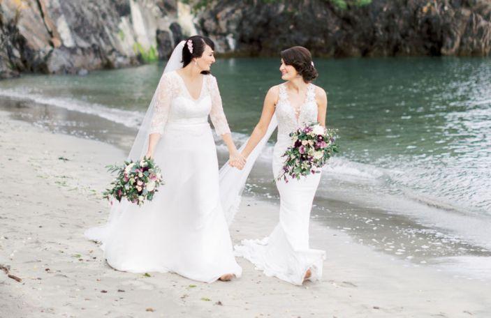 Laura and Una's stunning summer Dunmore House Hotel wedding
