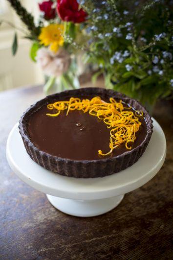 Chocolate Orange Tart   DonalSkehan.com, Delicious grown-up dessert.