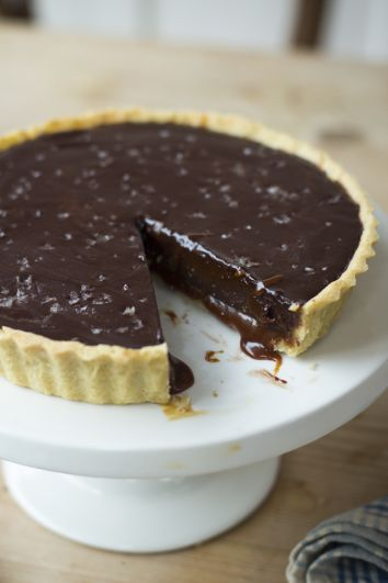 Salted Caramel Chocolate Tart   DonalSkehan.com, The perfect end to any special meal!