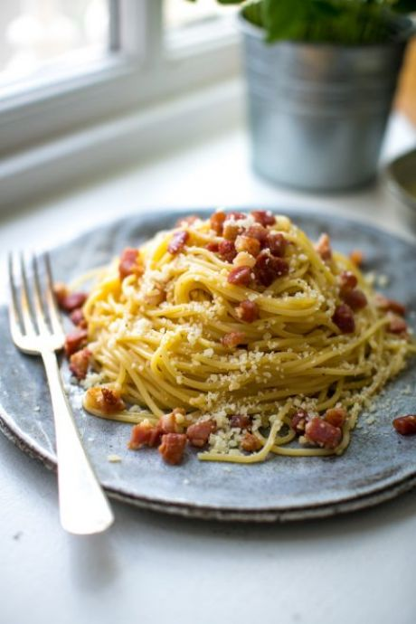 Spaghetti Carbonara | DonalSkehan.com, Quick, easy and luxurious, the classic carbonara deserves its place in the Italian hall of fame.