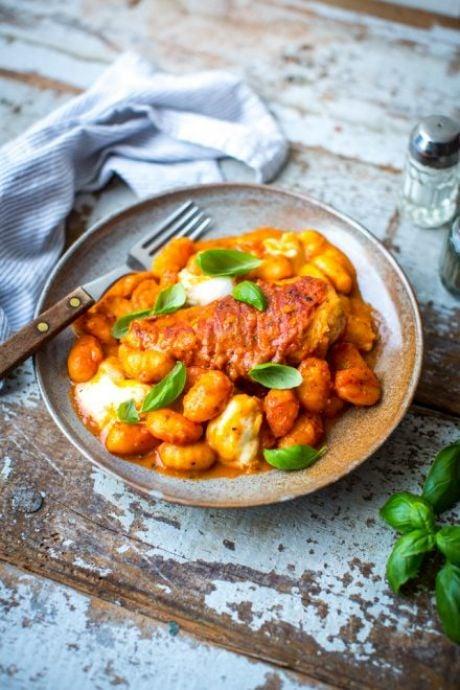 Prosciutto Chicken with Marinara Gnocchi | DonalSkehan.com