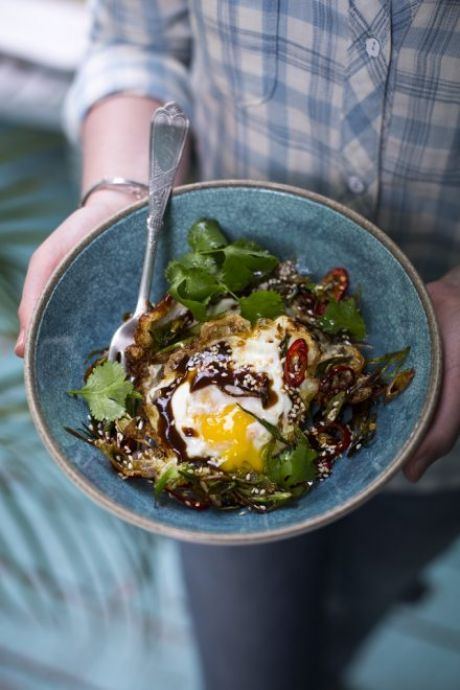 Crispy Fried Chinese Eggs | DonalSkehan.com, A nice change to scrambled eggs on toast!