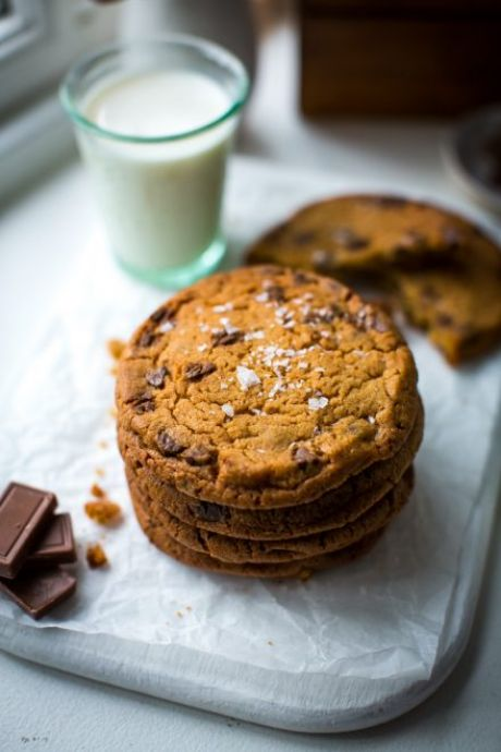 The Best Chocolate Chip Cookies | DonalSkehan.com, One of these chocolate chip cookies and a glass of milk is all you need in life!
