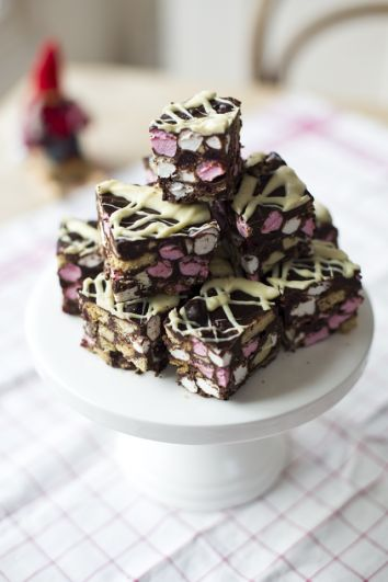 Rocky Road Squares | DonalSkehan.com, A sure-fire success at cake sales or as an edible gift.