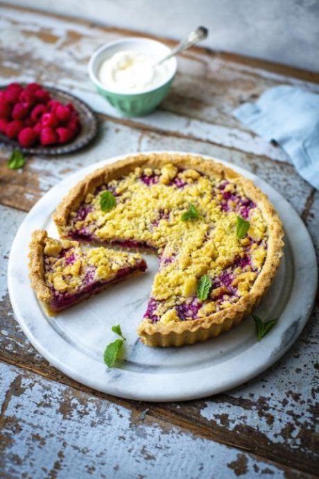 Raspberry Crumble Tart | DonalSkehan.com, This simple fruit crumble will have you obsessed!