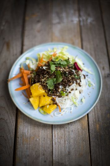 Asian Beef Noodle Salad | DonalSkehan.com, A fresh and fragrant Thai-inspired beef recipe.