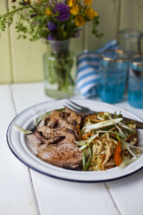 Asian Aromatic BBQ Summer Lamb with Tangy Sesame Salad! | DonalSkehan.com, Because BBQ can be so much more than just burgers!