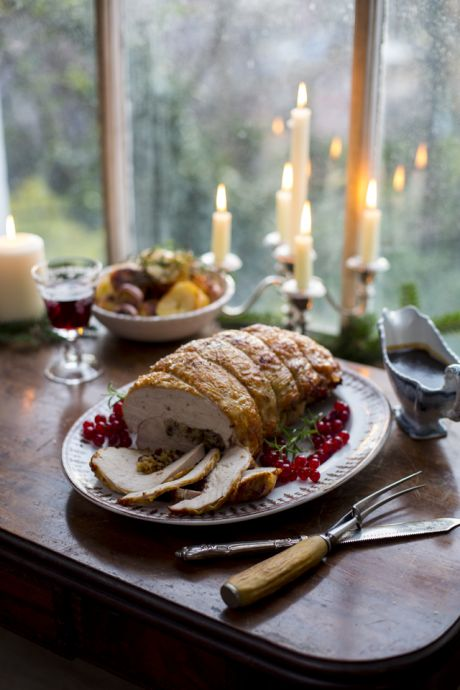 Roast Rolled Turkey Breast with Cranberry & Sage Stuffing | DonalSkehan.com, An easy-carve Christmas day option with plenty of next day leftovers!