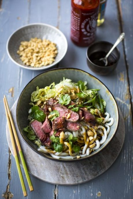 Private: Spicy Steak Noodle Bowl with Sesame Soy Dressing | DonalSkehan.com, A wonderfully versatile noodle bowl!