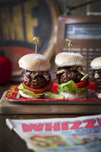 Blue Cheese Beef Sliders | DonalSkehan.com, A firm favourite for casual get togethers!