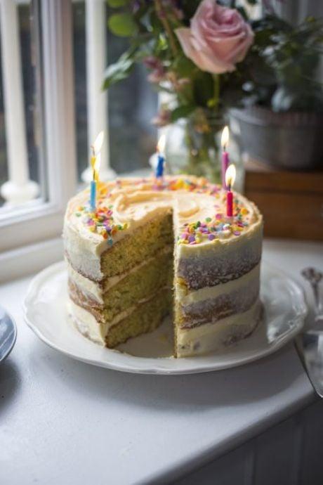 Ultimate Sprinkles Birthday Cake | DonalSkehan.com, My go-to cake for birthdays and celebrations!
