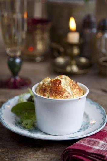 Blue Cheese Soufflés | DonalSkehan.com, Delicious Christmas starter.