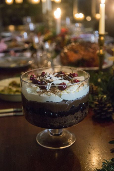 Black Forest Brownie Trifle | DonalSkehan.com, The perfect centre-piece dessert guaranteed to please the whole family!