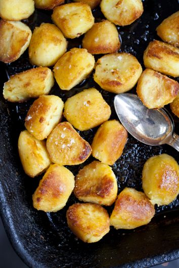 Fluffy and Crispy Goose Fat Potatoes | DonalSkehan.com, Perfect for the Christmas table or Sunday lunch.