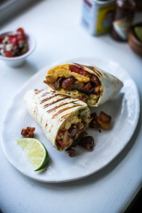 Breakfast Burritos | DonalSkehan.com, All your favourite breakfast ingredients rolled in to one!